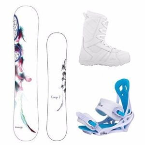Camp Seven 2017 Dreamcatcher Snowboard with Women's Mystic Bindings Review