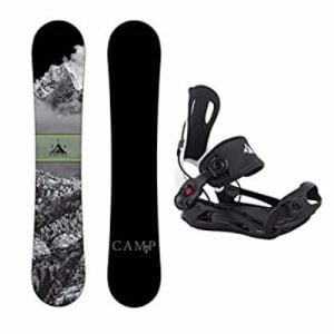 Camp Seven System DNR Snowboard and 2017 System MTN Flow Style Rear Entry Step In Men's Binding Review