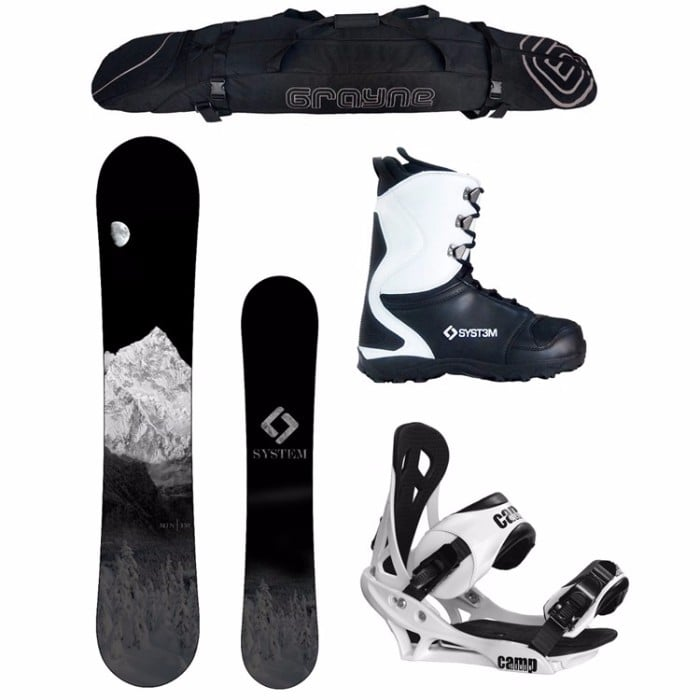 System 2017 MTN Snowboard and Summit Men's Snowboard Package Review