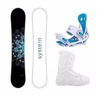System 2017 MTNW Snowboard with Mystic Bindings Women's Snowboard Package Review
