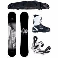 System 2017 Timeless Snowboard and Summit Men's Snowboard Package Review