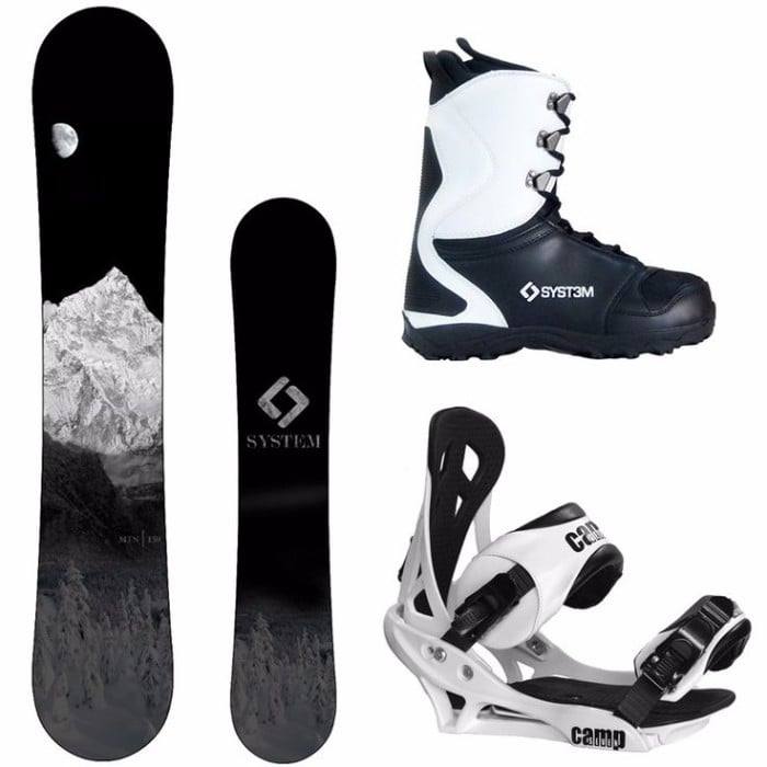 System 2017 Timeless Snowboard with Flow Bindings Men's Snowboard Package Review