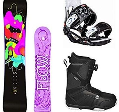 Flow 2018 Pixi Women's Complete Snowboard Package Head Bindings BOA Boots Review