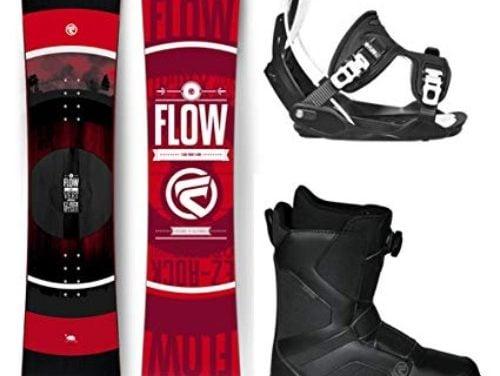 Flow 2019 VERT Men's Snowboard Package Bindings BOA Boots Bag Review