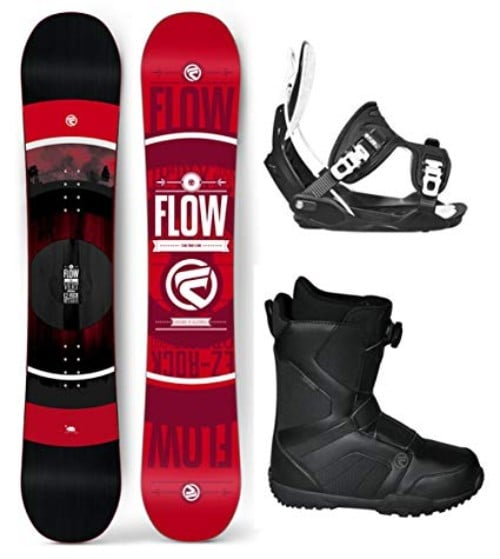 Flow 2019 VERT Men's Snowboard Package Bindings BOA Boots Bag Review